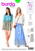 6416 Burda Pattern: Ladies Skirt